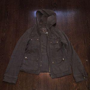 J crew army green utility jacket